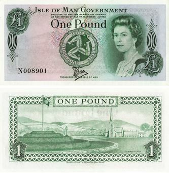 Picture of Isle of Man £1 Plastic P38 Unc