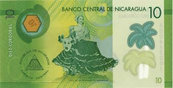 Picture of Nicaragua 10-100 Cordobas Polymer Unc