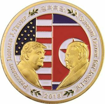 Picture of United States of America, Trump meets Kim Jong-un Uncirculated