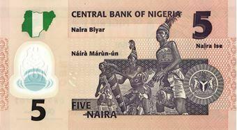 Picture of Nigeria 5- 50 Naira  Plastic Unc
