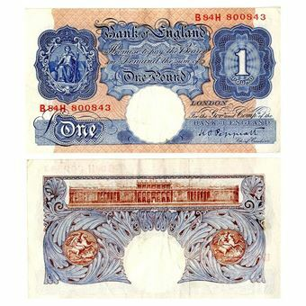 Picture of Blue/Pink Wartime £1 (B249), VERY FINE