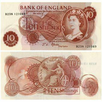 Picture of Last £1 & 10/- Pair EF