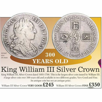 Picture of William III, Silver Crown Very Good