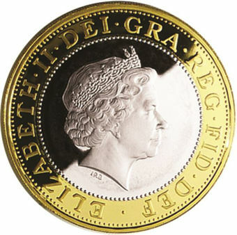 Picture of Elizabeth II, £2 1998 Silver Proof Pound