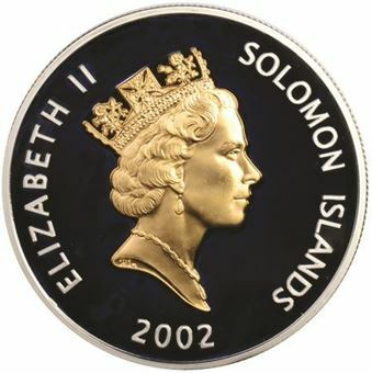 Picture of Solomon Islands, 3 Sterling Silver Proof Crowns, 2002
