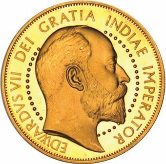 Picture of Edward VII, Patina Double Florin Goldine