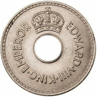 Picture of Fiji, Edward VIII  1 Penny Uncirculated