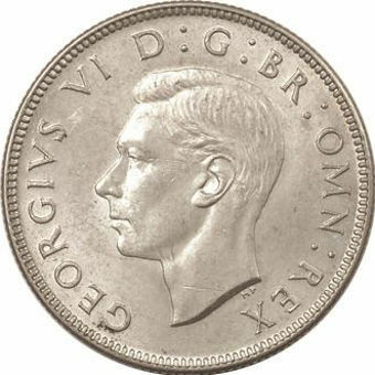 Picture of George VI, Florin 1944 Uncirculated