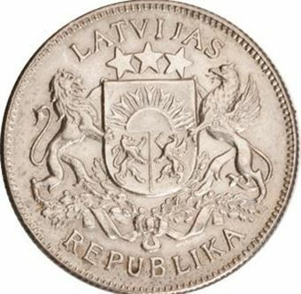 Picture of Latvia, 2 Lati 1925 Uncirculated