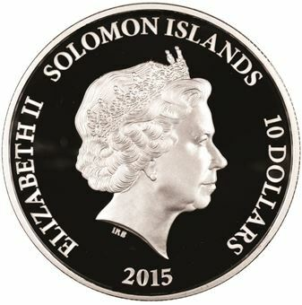 Picture of Solomon Islands, 2015 Silver Proof Crown in Queen Elizabeth's Honour