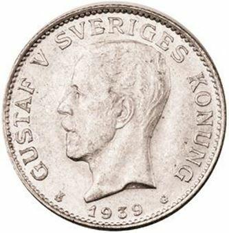Picture of Sweden, 1939 1 Kroner Gem Unc