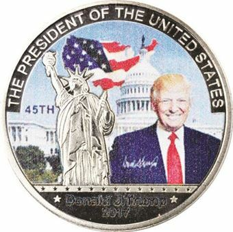 Picture of United States of America, Trump Statue of Liberty silver coloured