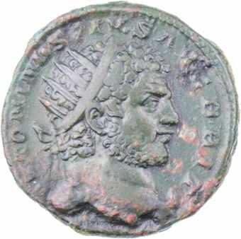 Picture of Caracalla. A.D. 198-217. Rome - A.D. 213-215. Æ Dupondius.