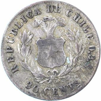 Picture of Chile, 20 Centavos 1891
