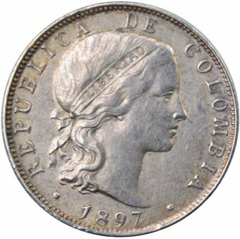 Picture of Colombia, 20 Centesimos 1897
