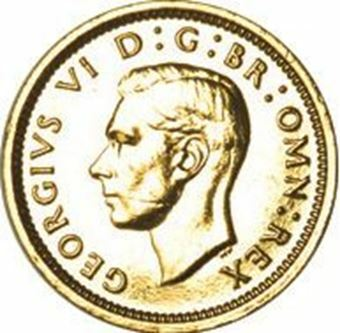 Picture of George VI, C & H Gold Plated Silver Threepence