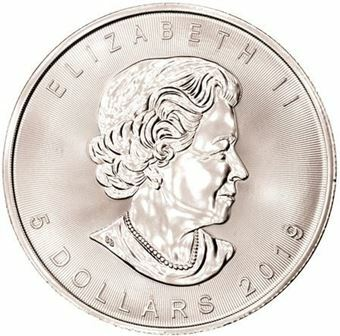 Picture of Canada, Maple Leaf 5 dollars, 2019