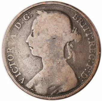 Picture of Victoria, 2 Worn Pennies