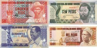 Picture of Guinea Bissau 50-1000 Pesos 1990-3 (4) P10-13 Unc