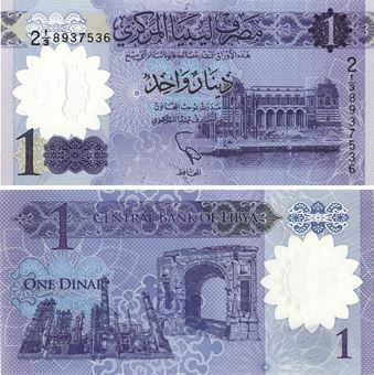 Picture of Libya 1 Dinar 2019 P-New Polymer Unc