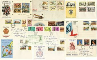 Picture of 10 Non GB First Day Covers
