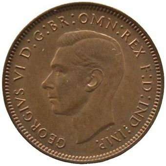 Picture of George VI, Farthing 1947 Unc