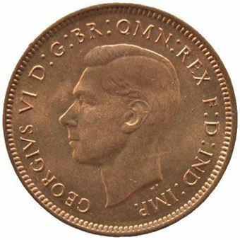Picture of George VI, Farthing Uncirculated, 1948