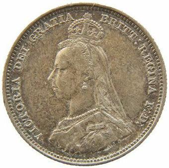 Queen_Victoria_1887_Silver_Shilling_Obv