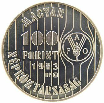 Hungary_FAO_100_forint_1983_Obv