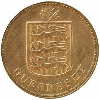 Guernsey_1_double_1933_brilliant_uncirculated_Obv