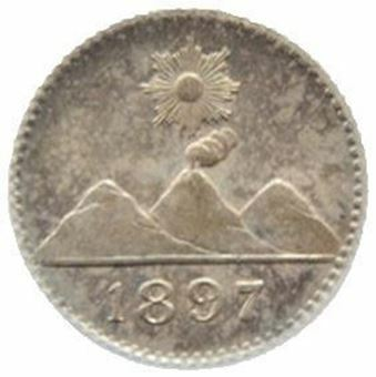 Guatemala_14_real_1897_Brilliant_Uncirculated_Obv