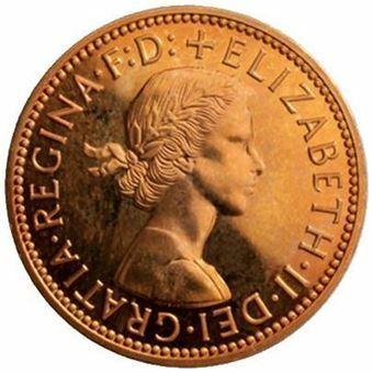 Picture of Elizabeth II, last 1970 Halfpenny and last 1984 Halfpence