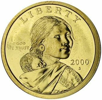 Picture of United States of America, 2000 Sacagawea Dollar Coin in Proof