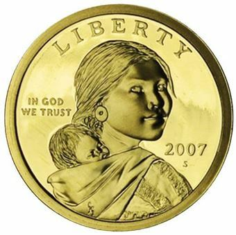 Picture of United States of America, 2007 Sacagawea Dollar Coin in Proof