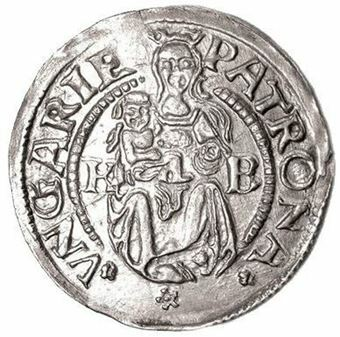 Picture of Hungary, 500 Year Old Silver Coin Of HRE  EF