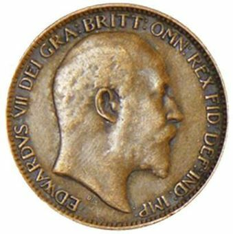 Picture of Edward VII Farthing 1909