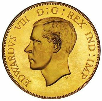 Picture of Jersey, Edward VIII, Bare Head Goldine
