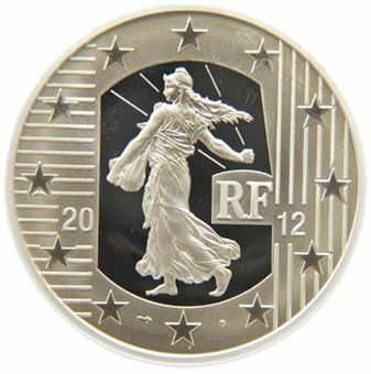 Picture of France, 10 Euro, 2012. Silver Proof (KM.1889)