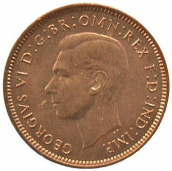 Picture of George VI, Farthing 1943 Unc