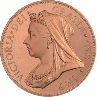 Picture of Victoria, Patina Double Florin Copper