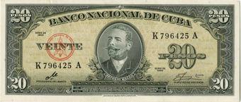 Picture of Cuba, 20 pesos 1960 P80c Che EF