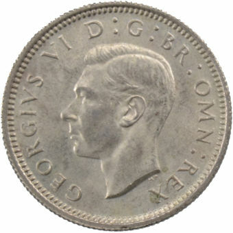 Picture of George VI, Sixpence 1944 Gem Uncirculated