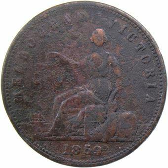 Picture of Australia, Penny Token 1859