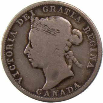 Picture of Canada, 25 Cents 1888