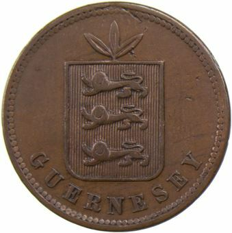 Picture of Guernsey, 4 Doubles 1864
