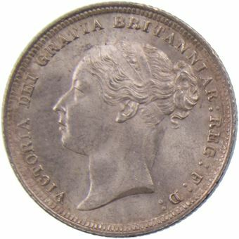 Picture of Victoria, Young Head Sixpence 1883