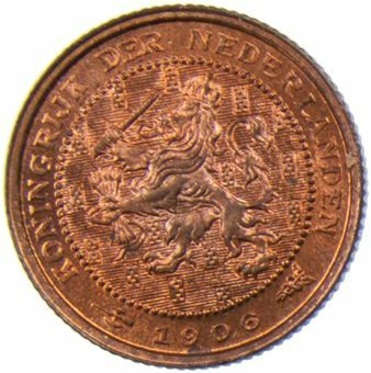 Picture of Netherlands, Dutch 1/2c 1906 BU