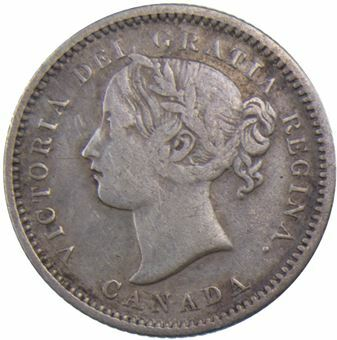 Picture of Canada, 10 Cents 1870 narrow 0