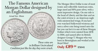 Picture of United States of America, US Morgan Dollar Brilliant Uncirculated