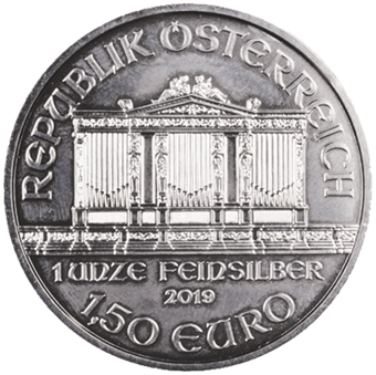 Picture of Austria, 2019 Philharmonic 1 Ounce Silver
